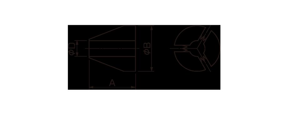 A型・R型付属品-三割コレット